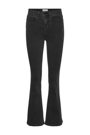 high waist flared jeans NMSALLIE dark grey denim