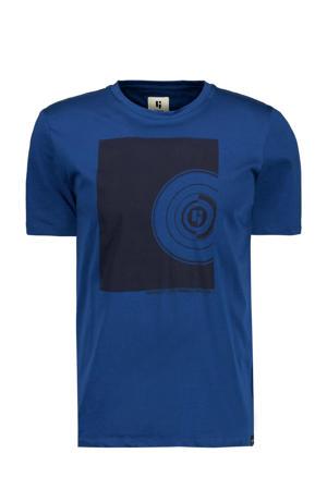T-shirt met printopdruk imperial blue