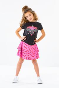 KIDS ONLY rok KONSOLVEIG met all over print roze/rood, Roze/rood