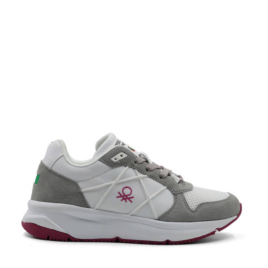 Benetton Ascent  sneakers wit/grijs, wit/grijs/roze
