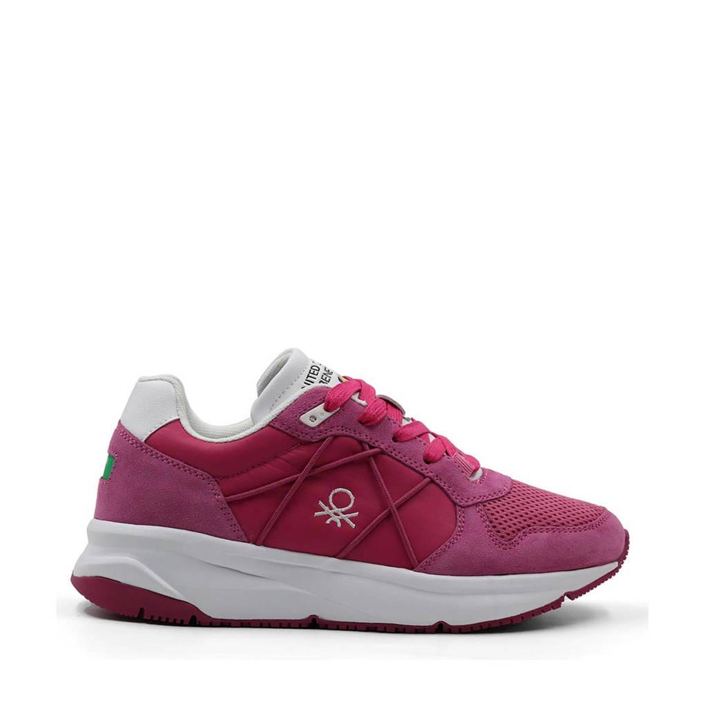 Benetton Ascent  sneakers roze, Roze/wit