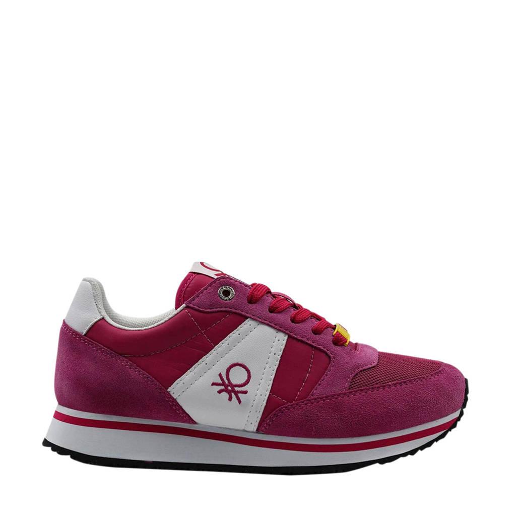 Benetton Word Mix  sneakers fuchsia/wit, Fuchsia/roze/wit