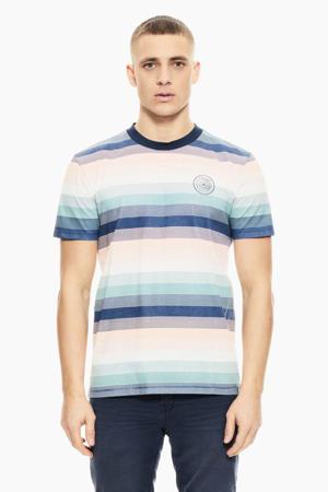 gestreept T-shirt blauw/lichtroze