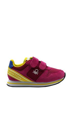 Joy MX Velcro  sneakers fuchsia/geel