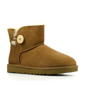 Mini Bailey Button II  suède enkelboots cognac
