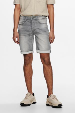 regular fit jeans short Ply grey denim