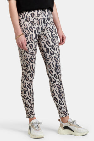 legging Jana met dierenprint beige/zwart/bruin