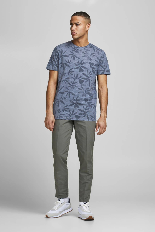 JACK & JONES T-shirt Floral met all over print blauw, Blauw