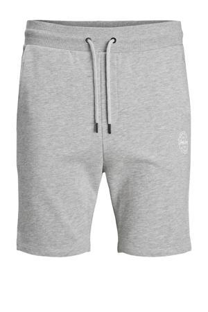 regular fit sweatshort Shark Plus Size met logo lichtgrijs melange