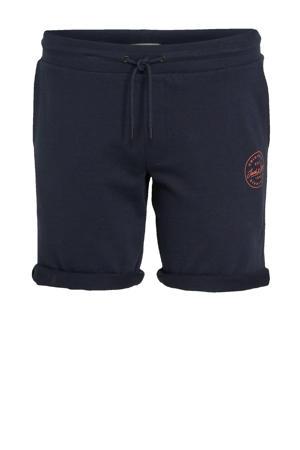 regular fit sweatshort Shark Plus Size met logo donkerblauw