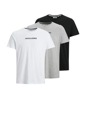 T-shirt Rain (set van 3) zwart