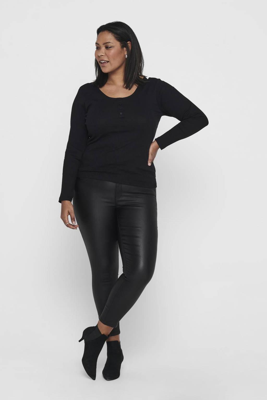 ONLY CARMAKOMA skinny broek CARKARLA zwart, Zwart