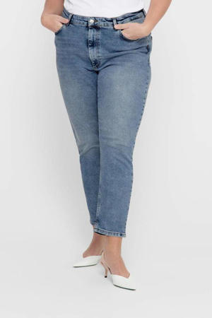 high waist straight fit jeans CARENEDA light blue denim