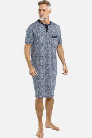 Plus Size slaapshirt Atreju gemêleerd blauw