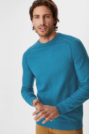 trui met wol turquoise