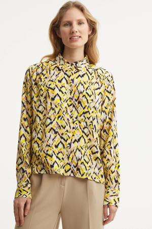 blouse Everdeen Aurone met all over print geel