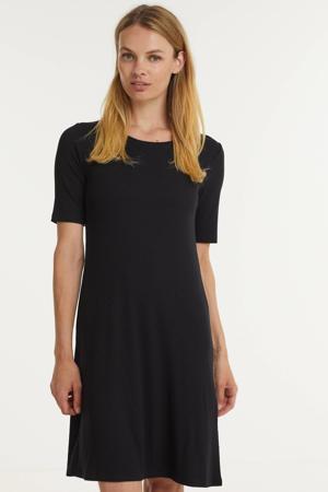 ribgebreide jurk Chica zwart