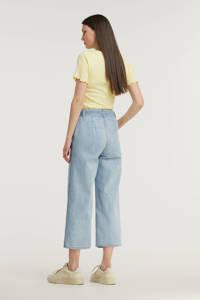 Modström cropped high waist loose fit jeans Ilias light blue, Light Blue