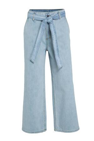 cropped high waist loose fit jeans Ilias light blue