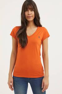 G-Star RAW T-shirt met biologisch katoen oranje, Oranje