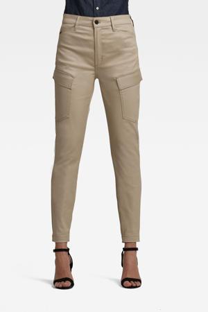 high waist skinny cargobroek beige
