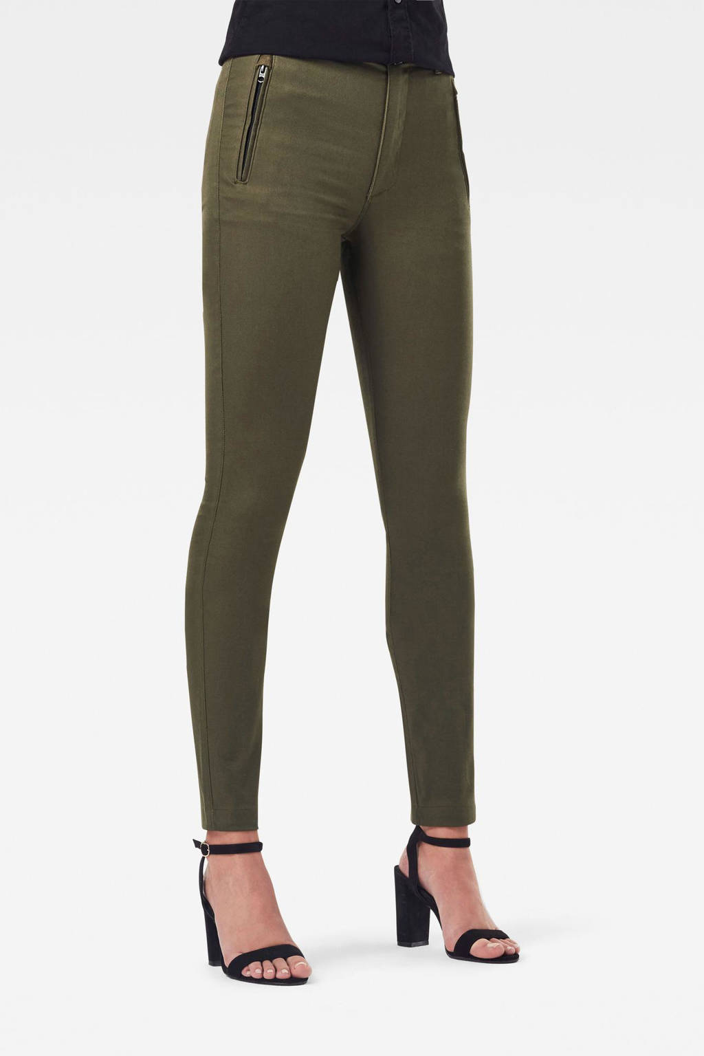 G-Star RAW Weld high waist skinny broek groen, Groen
