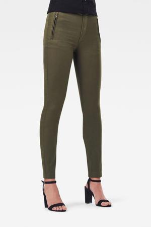 Weld high waist skinny broek groen