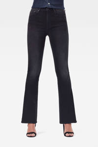 G-Star RAW high waist flared jeans zwart, Zwart