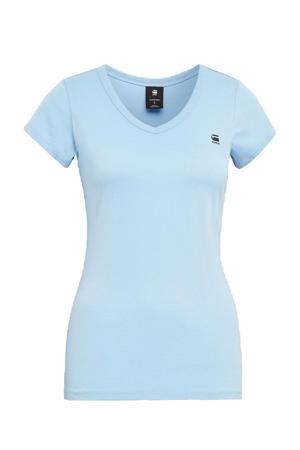 T-shirt Eyben met logo lichtblauw