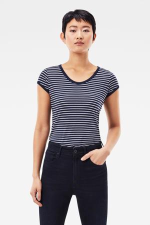 gestreept T-shirt Core Eyben blauw/wit