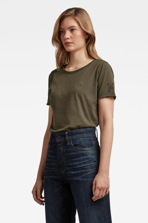 T-shirt Mysid van biologisch katoen kaki