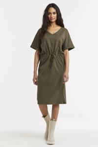 G-Star RAW jurk Adjustable waist van biologisch katoen bruin, Bruin