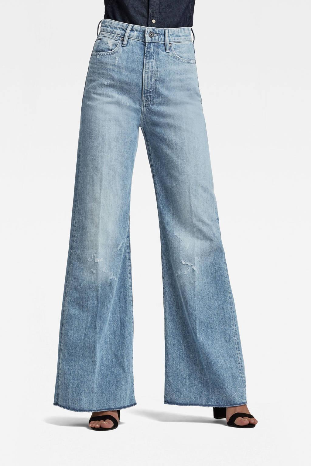 G-Star RAW high waist loose fit jeans Sun Faded Ice Fog Destroyed, sun faded ice fog destroyed