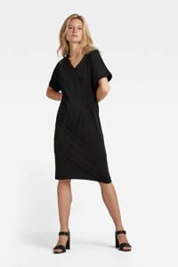 G-Star RAW jurk Adjustable waist van biologisch katoen zwart, Zwart