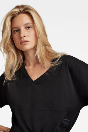 jurk Adjustable waist van biologisch katoen zwart