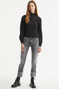 G-Star RAW Noxer cropped high waist straight fit jeans grijs, Grijs