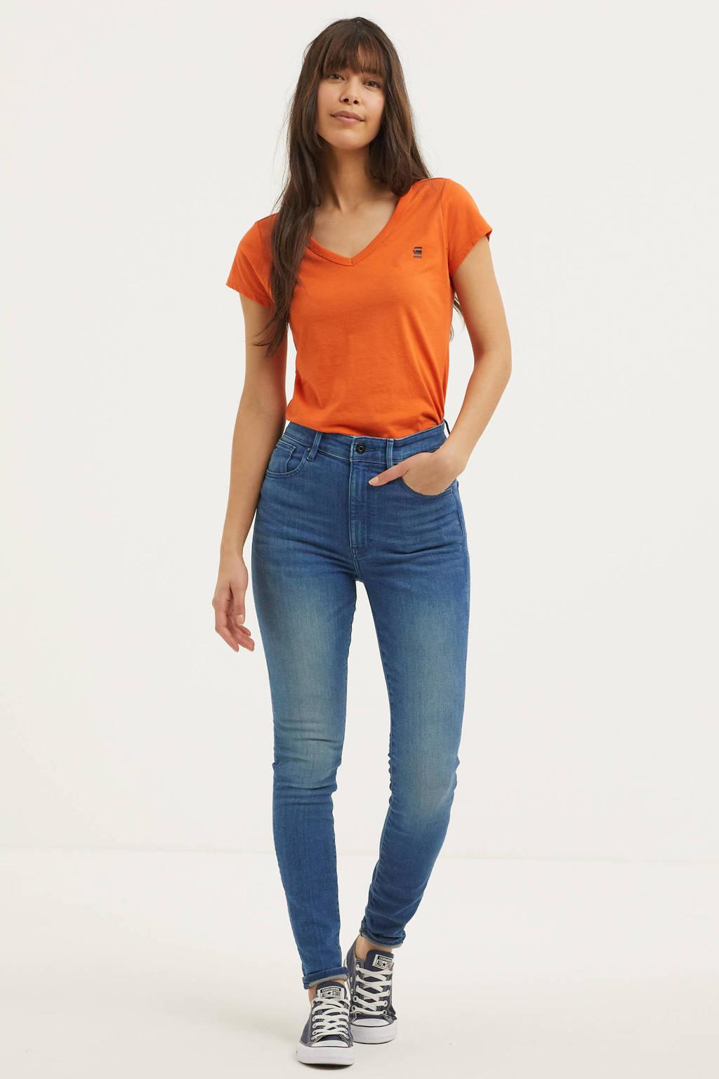 G-Star RAW Kafey Ultra High Skinny high waist skinny jeans blauw, Blauw