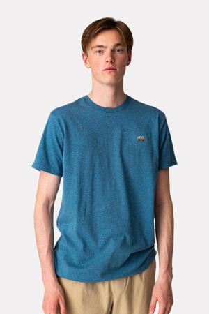 gemêleerd T-shirt VAN  van biologisch katoen turquoise