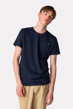 gemêleerd T-shirt BOM van biologisch katoen donkerblauw