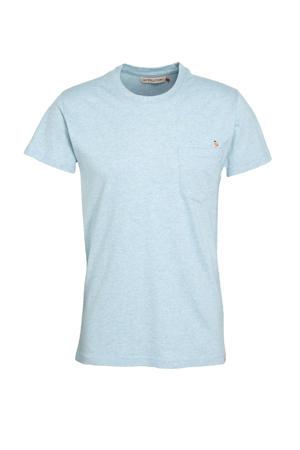 gemêleerd T-shirt BOM van biologisch katoen lichtblauw