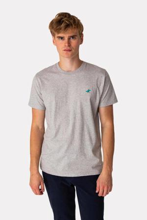 gemêleerd T-shirt DUD  van biologisch katoen grijs melange