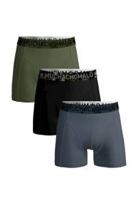 Muchachomalo boxershort Solid (set van 3), Blauw/zwart/groen