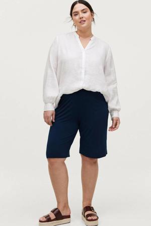 straight fit sweatshort EVA donkerblauw