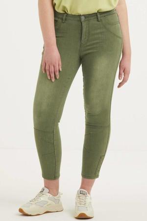 cropped skinny jeans groen