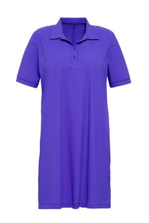 jurk van travelstof paars