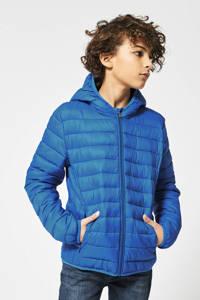 America Today Junior gewatteerde zomerjas Alex blauw, Blauw