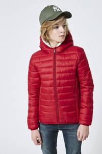America Today Junior gewatteerde zomerjas Alex rood, Rood