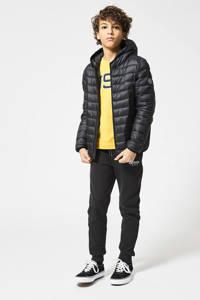 America Today Junior gewatteerde zomerjas Alex zwart, Zwart