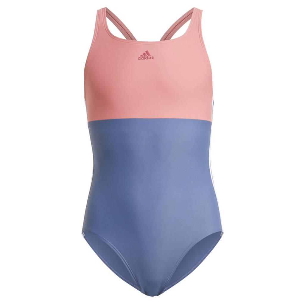 adidas Performance sportbadpak blauw/roze, Blauw/roze