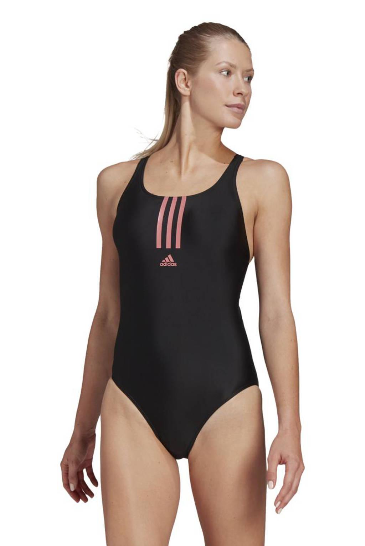 adidas Performance Infinitex sportbadpak zwart/roze, Zwart/roze